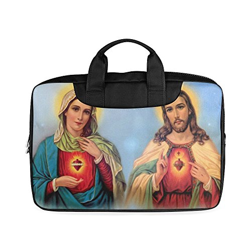 Laptop Notebook Christian Religious Church Gifts Virgin Mary and Jesus Christ Handle Sleeve Bag Case Cover for 13 inches MacBook Pro(Twin Sides Printing)