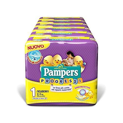 Pampers Progressi Newborn, 168 Pannolini, Taglia 1 (2-5 kg)