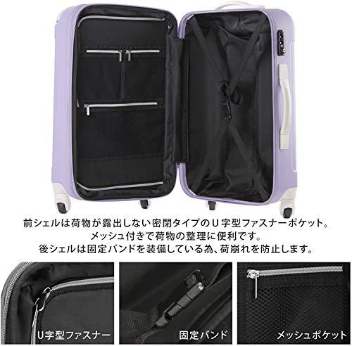 スーツケース(LEGENDWALKER:レジェンドウォーカー)Mサイズ(5泊6泊7泊)ファスナー(5082-60)@チョコ/ミント