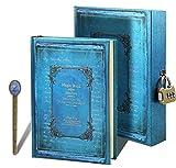 Retro A5 Notizbuch Notebook Notizblock Journal Reisetagebuch Hardcover Tagebuch Travel Diary Sketchbuch in einer schönen Box mit Nummernschloss für Reise
