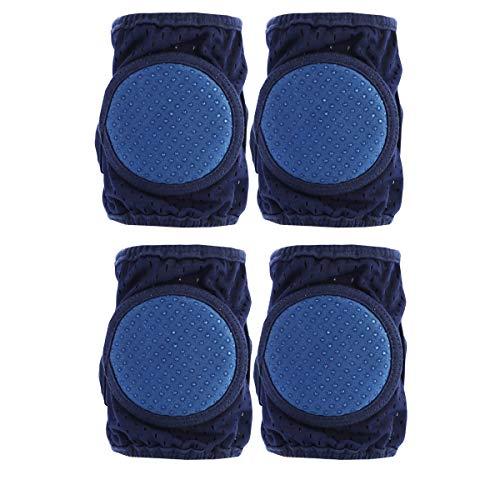 Yinuoday Baby Knieschützer zum Krabbeln, 2 Paar rutschfeste verstellbare Knieschützer für Kleinkinder, Beinwärmer-Schutzhülle für Babys oder Mädchen (Blau)