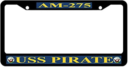 JSCustomKing Personalized License Plate Frame for Men/Women, Black Frame for License Plate - 12