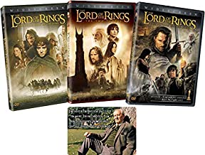 Lord of the Rings Complete Trilogy DVD Collection with Bonus Glossy Artcard (The Fellowship / Two Towers / Return of the King)