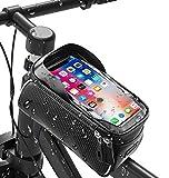 💦【防水・防圧・防塵 】この自転車バッグは高品質なPUとTPUの防水素材を採用しましたので、壊れにくい、防水性と防塵性が強いです。突然の雨でも安心して使えます。そして防水用のダブルジッパーを採用して、どこから水や汚れが入れない、完全保護になります。「ご注意:防水用のダブルジッパーなので、開閉の時ちょっとにくいの場合ご理解ください」。 🉑【大容量&軽量】この自転車トップチューブバッグのサイズは20.5*9*13なので、バッグの内部に充電用バッテリー、財布、イヤホン、鍵、カード、小銭、自転車グローブ...