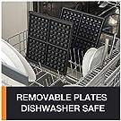 KRUPS Belgian Waffle Maker, Waffle Maker with Removable Plates, 4 Slices, Silver/Black #3