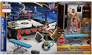 Mattel WWE Wrestling Ring Exclusive Playset PPV Ringside Battle Ring [Includes Daniel Bryan Figure]