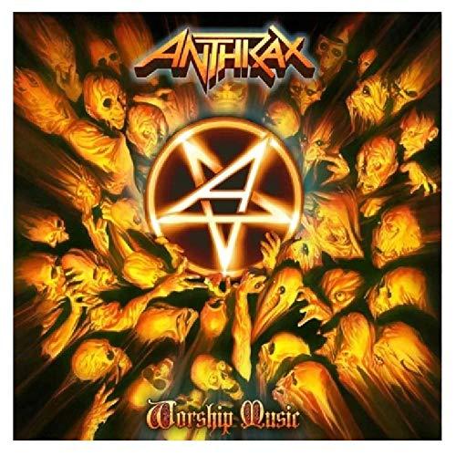 wzgsffs Anthrax Music Rapper Album Cover Poster E Stampe Wall Art Print su Tela per Soggiorno Casa Camera da Letto-28X28 Pollicix1 Senza Cornice