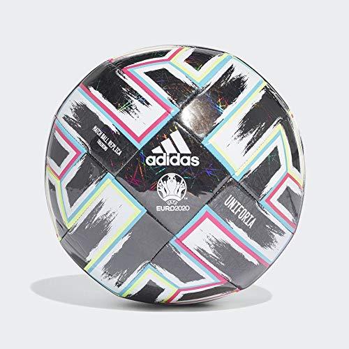 Adidas UNIFO TRN, Pallone da Calcio Uomo, Black/Signal Green/Bright Cyan/Shock Pink, 3