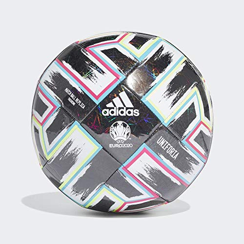 adidas Men's UNIFO TRN Soccer Ball, Black/Signal Green/Bright Cyan/Shock pink, 5