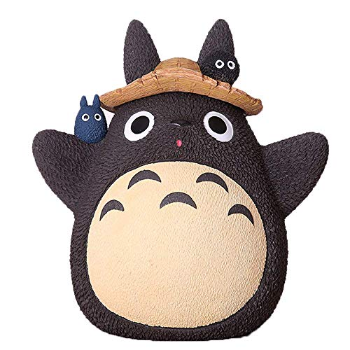 Baijian Mein Nachbar Totoro mit Sparschwein Japanisches Studio Ghibli Anime Spirit Away Figuren für Kinder Geschenk Für Hausgarten Dekoration,C