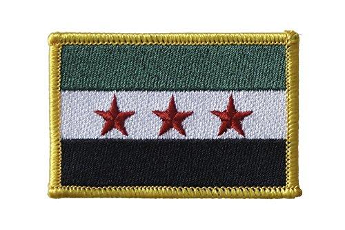 Flaggenfritze Flaggen Aufnäher Syrien 1932-1963 / Opposition - Freie Syrische Armee Fahne Patch + gratis Aufkleber