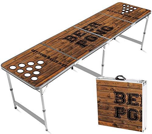 Offizieller Hole Beer Pong Tisch   Premium Qualität   Offizielle Wettkampfmaße   Beer Pong Table Becherhalterung   Kratz und Wassergeschützt   Stabil   Partyspiele   Trinkspiele   100% Spaß