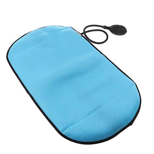 Homyl - Cojín masajeador portátil hinchable de malla para silla de oficina, casa, asiento de coche azul turquesa