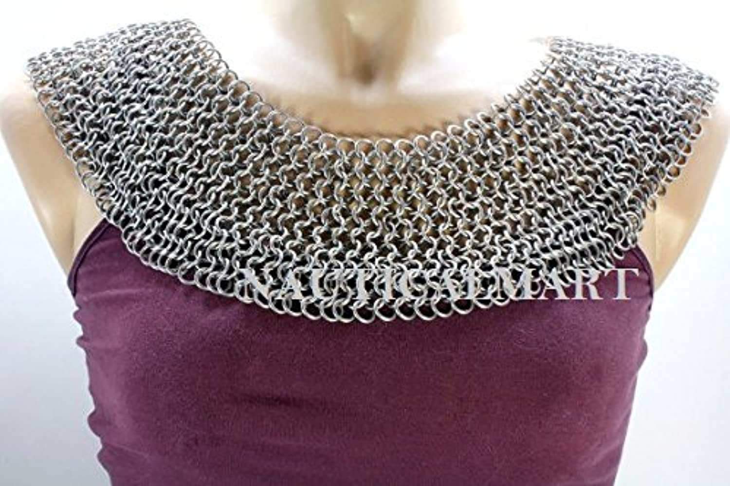 NAUTICALMART Chainmail Armor Bishop's Mantle Aluminum
