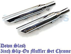 80424-0 スラッシュダウン 3インチ スリップオン マフラー スポーツスター 2004-2013 【低音重】【サイレンサー脱着可能】 MUFFLER DOWN SLASH CUT 80424-04-sldwn