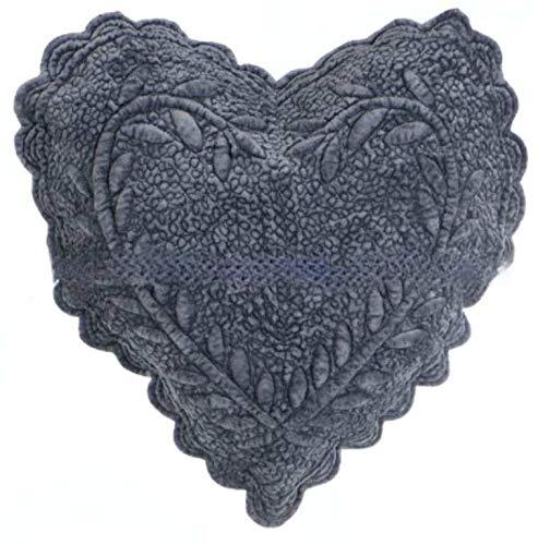 Blanc Mariclo Cojín con forma de corazón, color gris, papel de azúcar, 45 x 45 cm, a2016399si