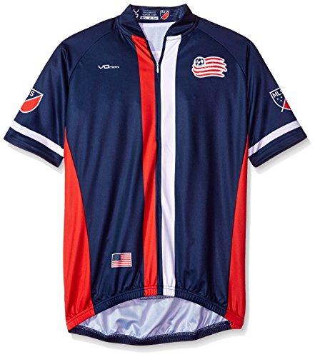 MLS New England Revolution Men's Primary Short Sleeve Cycling Jersey, Medium, Blue
