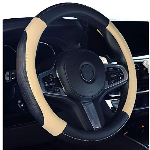 2019 Nuova copertura per volante dell'automobile in pelle microfibra coprivolante beige