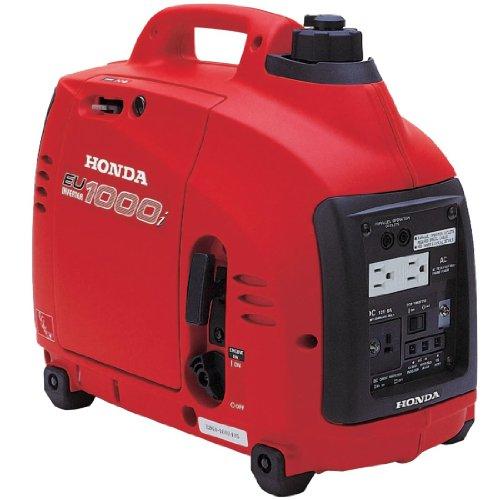 Honda EU1000i Inverter Generator, Super Quiet, Eco-Throttle, 1000 Watts/8.3 Amps @ 120v...