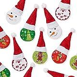 THE TWIDDLERS Spille a Tema Natalizie - Confezione da 20-4 Disegni Diversi - Accessorio di Natale...