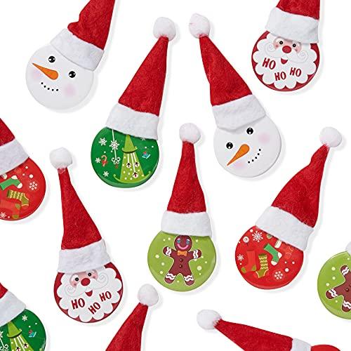 THE TWIDDLERS 20 Badges/Broches de Noël pour Les Fêtes - Calendrier de l'Avent, Chaussettes de Noël, Pochettes Surprise