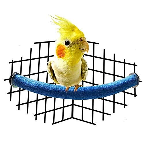 Lizefang Klauenstäbe U-förmig gefrostet Papagei Ständer Bar spezielle Vogelkäfige Spielzeug