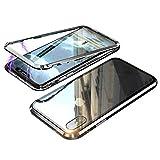 iPhone XS ケース iphonex カバー アルミ バンパー 背面ガラス アイフォン X/XS 透明 強化ガラ……