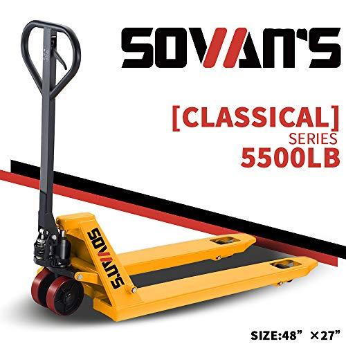 SOVAN'S【Classical】Manual Pallet Jack 5500lbs Capacity 48