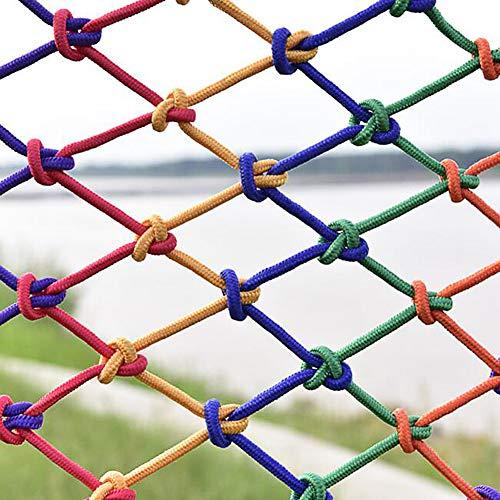 Red De Decoración Colorida, Material De Nailon, Red De Seguridad Para Niños, Red De Barandilla De Balcón De Escalera Interior, Red De Valla Para Patio De Recreo Red De Cuerda De Ja(Size:2*4M(7*13ft))