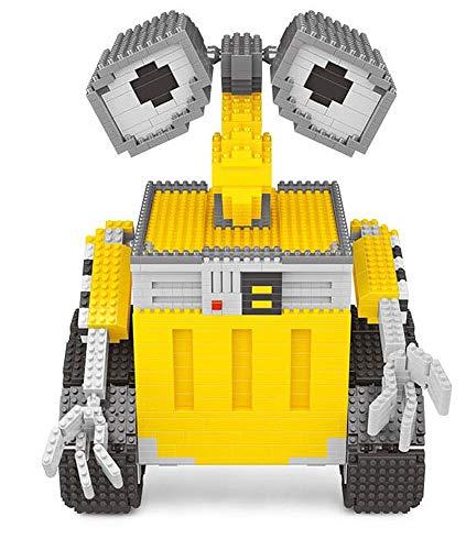 Brigamo Figura de robot de basura, 1701 bloques de construcción, bloques Nano Blocks