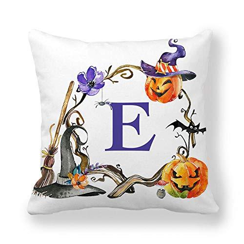 LPLH English Alphabet Simple Pillowcase encryption Peach Skin Material Printing Cushion Cover T119-5_45*45cm