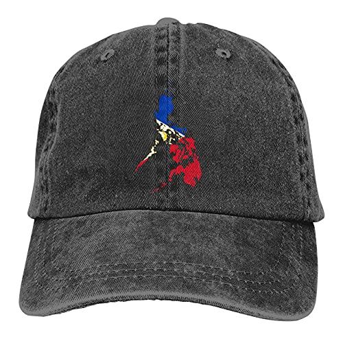 N \ A Filipinas Mapa Filipino Papá Sombreros Casquette Denim Algodón Gorra de béisbol Sombrero para Mujeres Hombres Negro