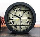 DYR Reloj Despertador estéreo Retro Creativo 3D Decoración de Escritorio Reloj silencioso Industrial sin tictac