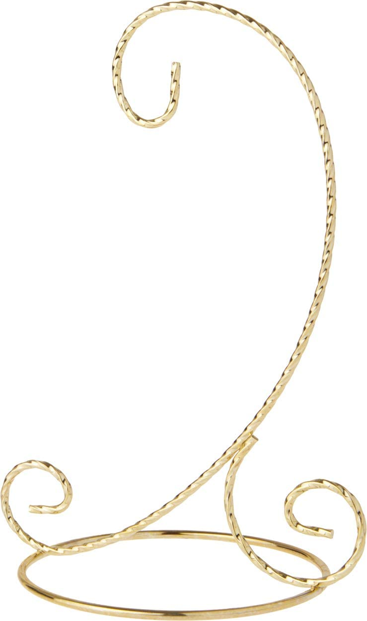Bards Twisted Gold-Toned Ornament Stand 5.5 H x 3 W x 3.5 D Pack of 2