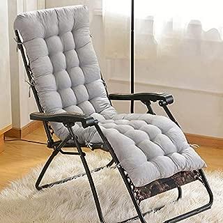 AuSHOP Sun Lounger Garden Furniture Patio Recliner Chairs Relaxer Pad Cushion (Grey)