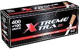6 cajas de tubos X-Tra 400+100 (3000 tubos)
