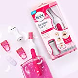 Veet Sensitive Touch Expert Trimmer for Face, Underarms and Bikini line – Battery & Carry Pouch included