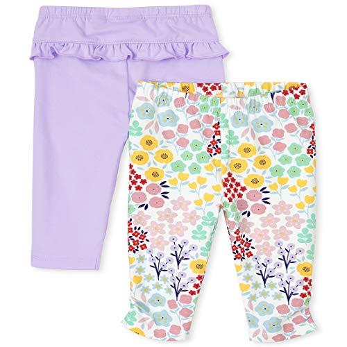 The Children's Place Baby Girls' Leggings, Pack of Two, Lovely Lavender, 6-9MONTHS