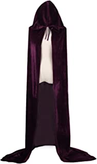 Adult Witch Long Halloween Cloaks Hood and Capes Halloween Costumes for Women Men Costumes Velvet Clothing