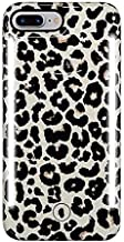 LuMee Duo Phone Case, Leopard Glitter | Front & Back LED Lighting, Variable Dimmer | Shock Absorption, Bumper Case, Selfie Phone Case | iPhone 8+ / iPhone 7+ / iPhone 6s+ / iPhone 6+