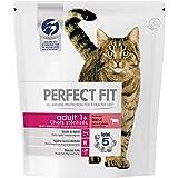 Perfect Fit Croquettes pour chat adulte stérilisé, riche en bœuf, 4 sacs de 1,4kg
