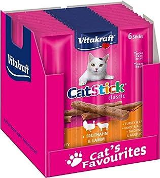 Cat-Stick Mini Dinde et Agneau - Lot de 60 sticks (10 sachets de 6 sticks)