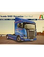 Italeri 3947 – 1:24 Scania R400 Streamline (Flat Roof), modelltillverkning, byggsats, golvmodelltillverkning, hantverk, hobby, lim, plastkit
