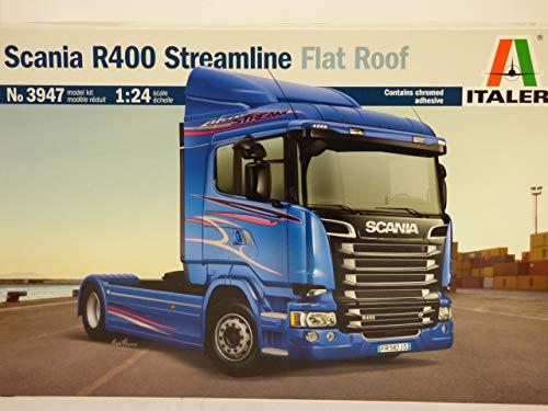 Italeri-3947 Scania R400 Streamline Flat Roof Scala 1:24, modellismo, Model Kit, Camion Modello in Plastica da Assemblare e Pitturare, Colore Blu, 3947S