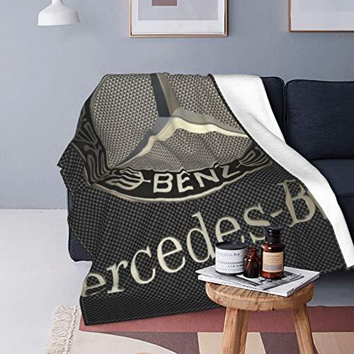 Mercedes Benz Flanell-Fleecedecke 125 x 150 cm, Ganzjahresdecke für Bett, Couch, Auto