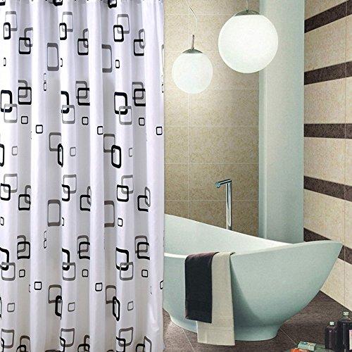 Musuntas Hohe Qualität 100prozent Polyester Wasserdicht Bad Duschvorhang - extralange 200 * 240cm mit Ring Haken