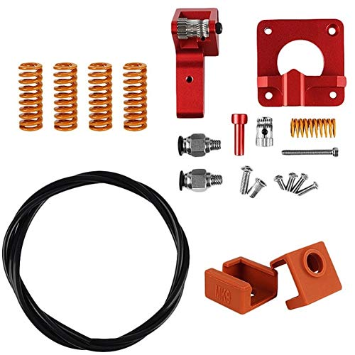ZXC Impresora 3D Accesorios Cr-10S Pro Ender-3 PTFE Extrusora Kit de muelles (Color : Red)