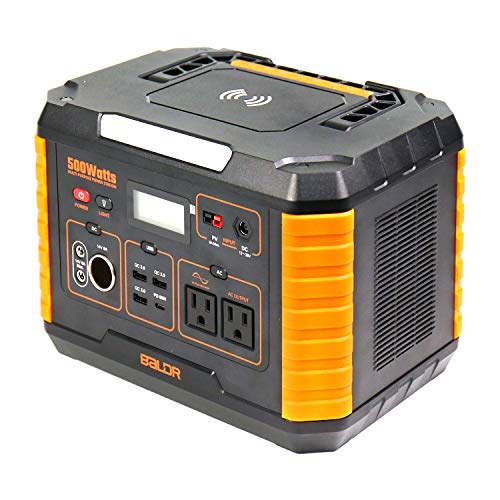BALDR Portable Power Station 500W, 519Wh Outdoor Solar Generator...