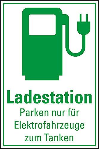 LEMAX® Hinweisschild Ladestation Elektrofahrzeug, mit Piktogramm, Folie, 300x200mm