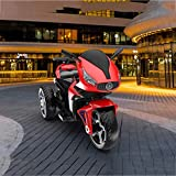 WANNA.ME Niño Motocicleta eléctrica Juguete Paseo en automóvil Auxiliar Rueda Triciclo 1-3-6 años Paseo en vehículos Niño Niña Bebé Carga Grande Niño Coche de Juguete Puede Sentarse (Color: Rojo)